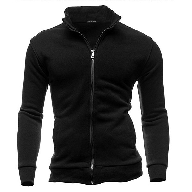 MRMT 2019 Brand Mens Stand Collar Sweatshirts Men No Hoodies Zipper Sweatshirts For Male No Hoodie Sweatshirt Man Clothing