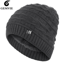 GEMVIE Stretch Winter Hat For Men Women Warm Soft Plush Lining Beanie Knit Solid Thick Unisex Ski Skull Watch Cap