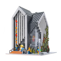 MOC 2734pcs City Streetview series The brickstive Modern Library Set Building Blocks Bricks Kids Toys children Birthday gifts