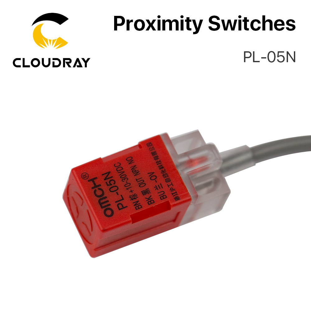 Cloudray Inductive Proximity Sensor Switches PL-05N 5mm NPN Out DC10-30V Normal Open NEW For Laser Cutting Machine