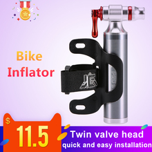 Bike Manual Inflator Cycling CO2 Tire Portable Presta Schrader Twin Valve Emergency No Cartridge Included