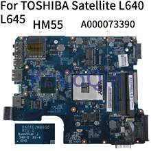 KoCoQin Laptop motherboard For TOSHIBA Satellite L600 L640 L645 Mainboard A000073390 DA0TE2MB6G0 HM55(China)