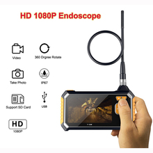 Endoscope Camera HD 1080P 4.3 LCD Video Snake Camera Drain Pipe Inspection Endoscope Borescope Wire Probe IP67 Waterproof Camera