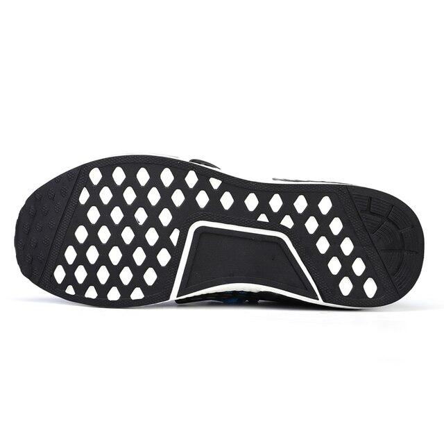 Zapatillas de deporte de moda para hombre, zapatos informales con cordones, transpirables, para caminar, talla grande, de verano 5