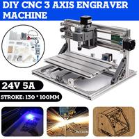DIY CNC Router Engraver 3 Axis Engraver Machine PCB Milling Wood Carving Router Laser Engraving Machine for Grbl Board