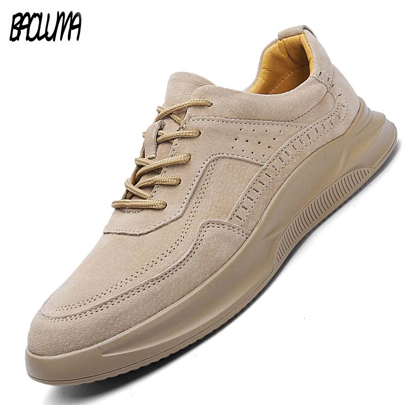 Men's Casual Shoes Suede Leather Men Loafers Flat Breathable Moccasins High Quality Fashion Designer Style Man Sneakers Hot Sale