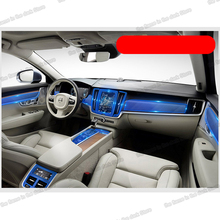 Lsrtw2017 TPU Transparent Car Interior Film Central Control dashboard Sticker for Volvo S90 2017 2018 2019 2020 anti-scratch lsrtw2017 tpu transparent car interior film central control dashboard sticker for volvo s90 2017 2018 2019 2020 anti scratch
