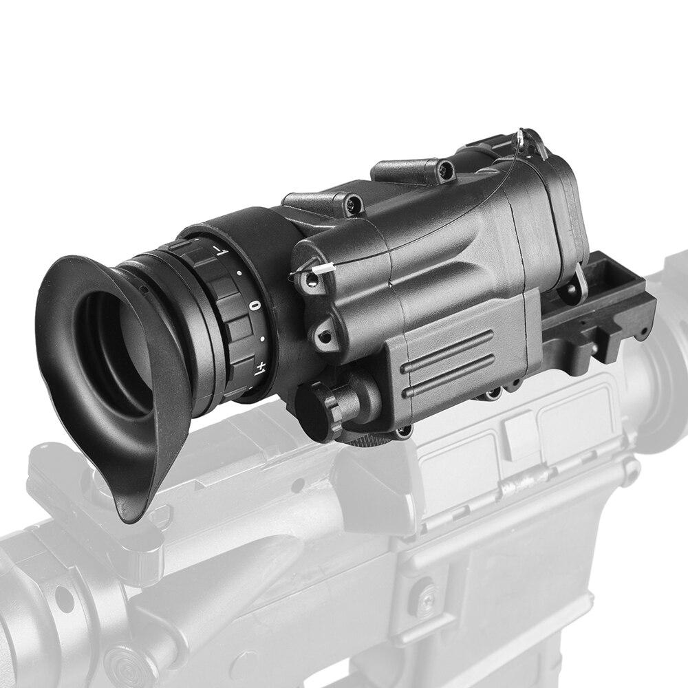 PVS14 ראיית לילה Goggle משקפת 200M טווח אינפרא אדום IR NV ציד היקף עם הר ציד ראיית לילה מראות