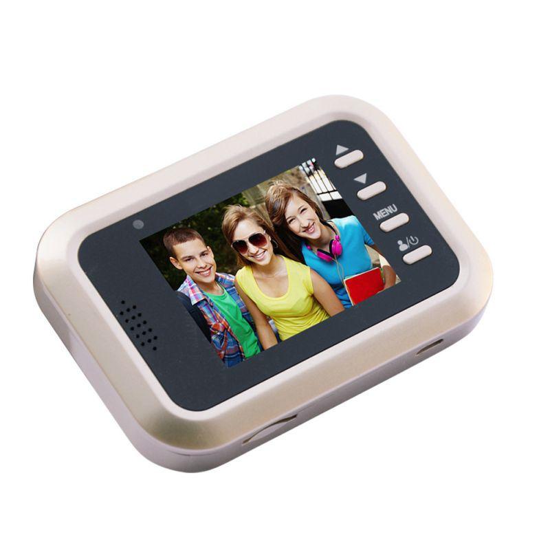 4.3inch HD Digital Door Viewer Night Vision Music Ring Video Photo Peephole Camera Visual Monitoring Cam
