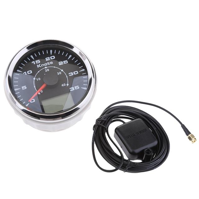 1 Set Marine LED Backlight GPS Speedometer 85mm MPH 0-35 Knots IP67 9-32V DC For Marine Boat Yacht 8 Colors 1