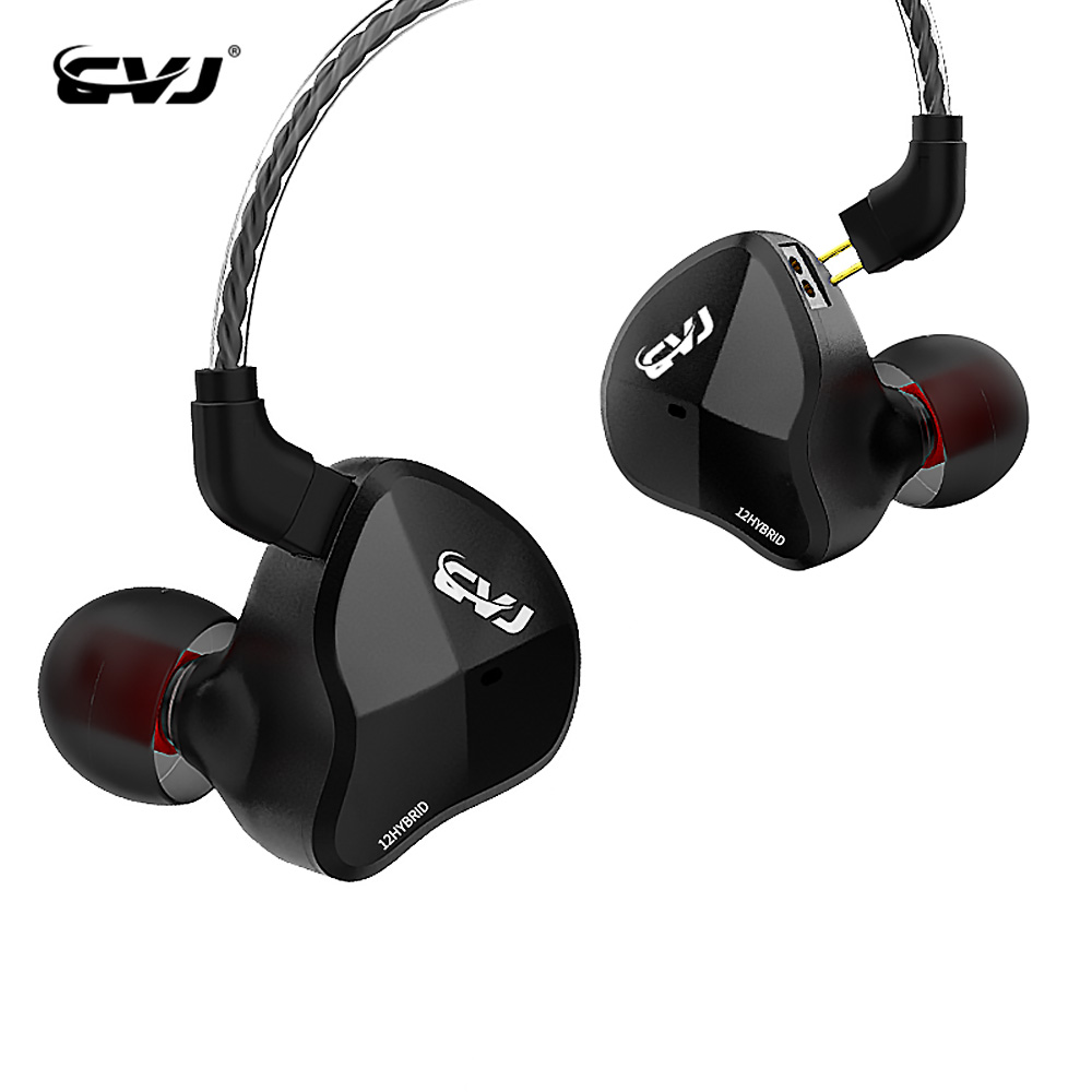 CVJ CSN 12 Units Hybrid Technology In Ear Earphone Hybrid Headset HIFI DJ Monitor Sports Earbuds With Replaced Cable