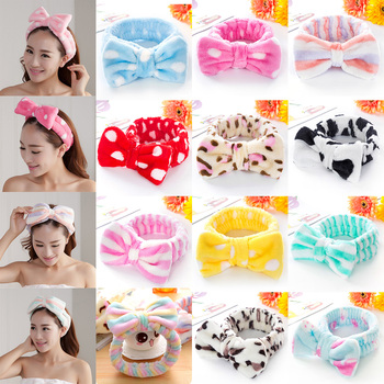 Cute Women Elastic Hair Band Bow-Knot Headband Lovely makeup headband Hair Accessories Ladies Twisted Lady Elastic Headwear 2019 image