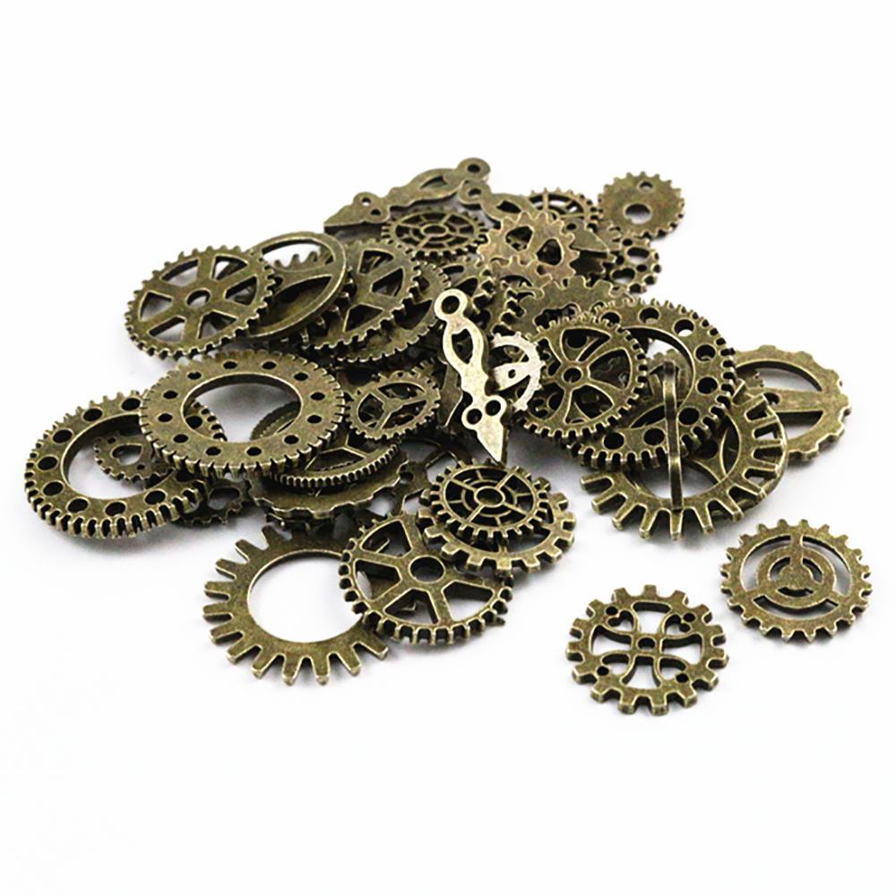 50PCS DIY Mixed Vintage Key Charms Pendant Steampunk Bronze Jewelry Findings