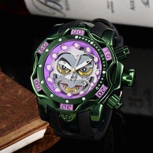 Reloj con motivo de Joker de la mejor marca de lujo, reloj de cuarzo de gran tamaño resistente al agua para hombre, reloj de pulsera dorado para hombre, envío directo
