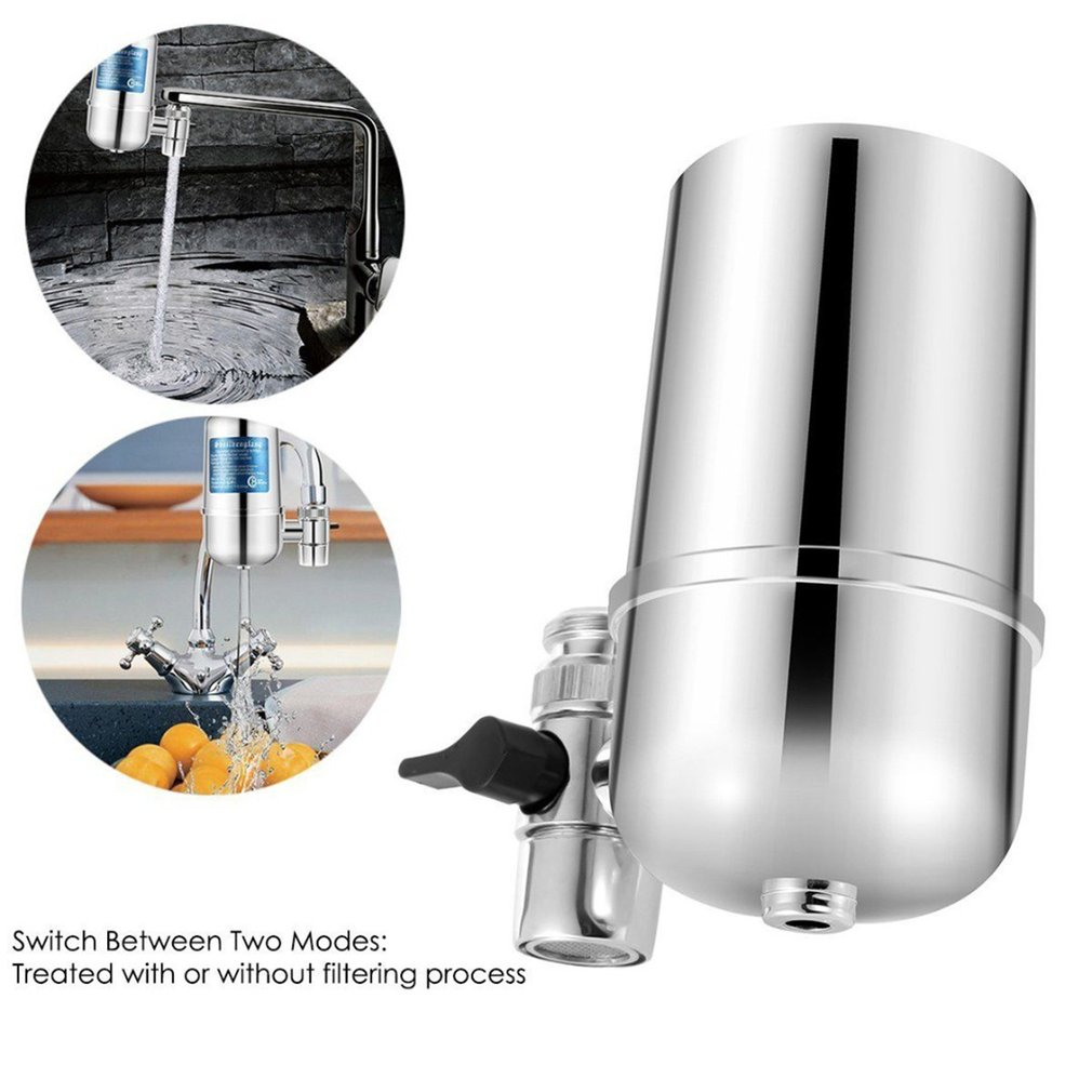 Ceramic Faucet Filter Water Purifier Cleaner Ceramic Activated Carbon for Household Home Kitchen Faucet Tap