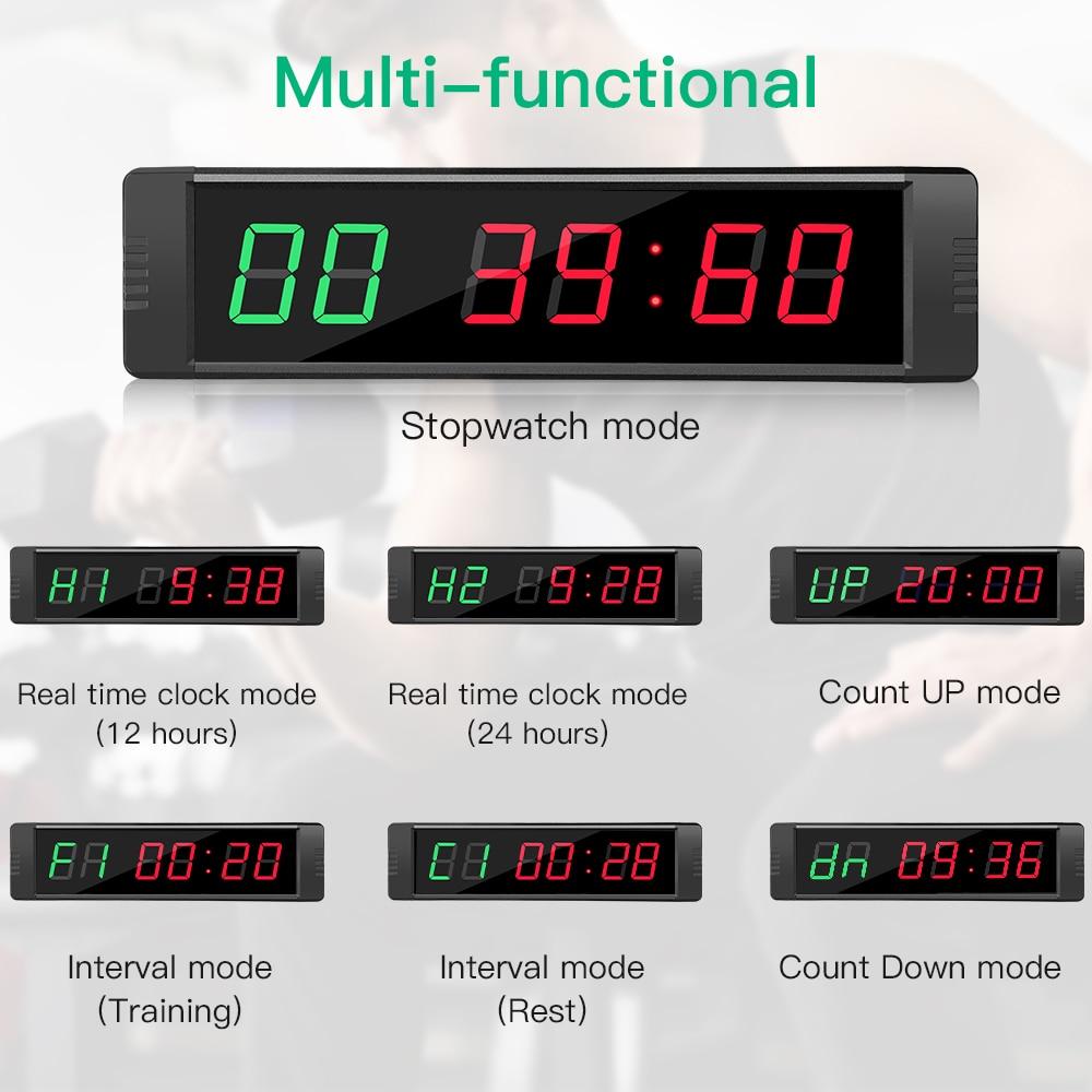 Controle remoto programável led crossfit temporizador intervalo