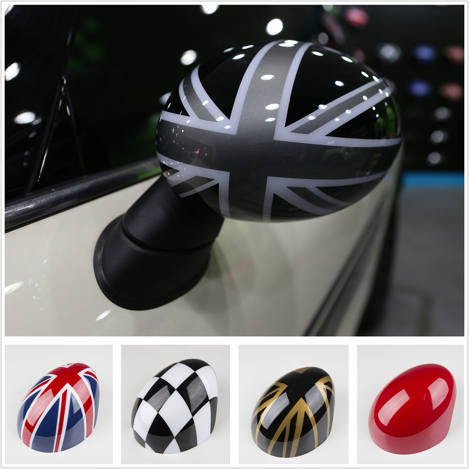 2pcs Side Wing Mirror Cover Cap Trim For Mini Cooper R Series R50 R53 R52 2000-2008 Fashion Decoration Car Decal Accessories