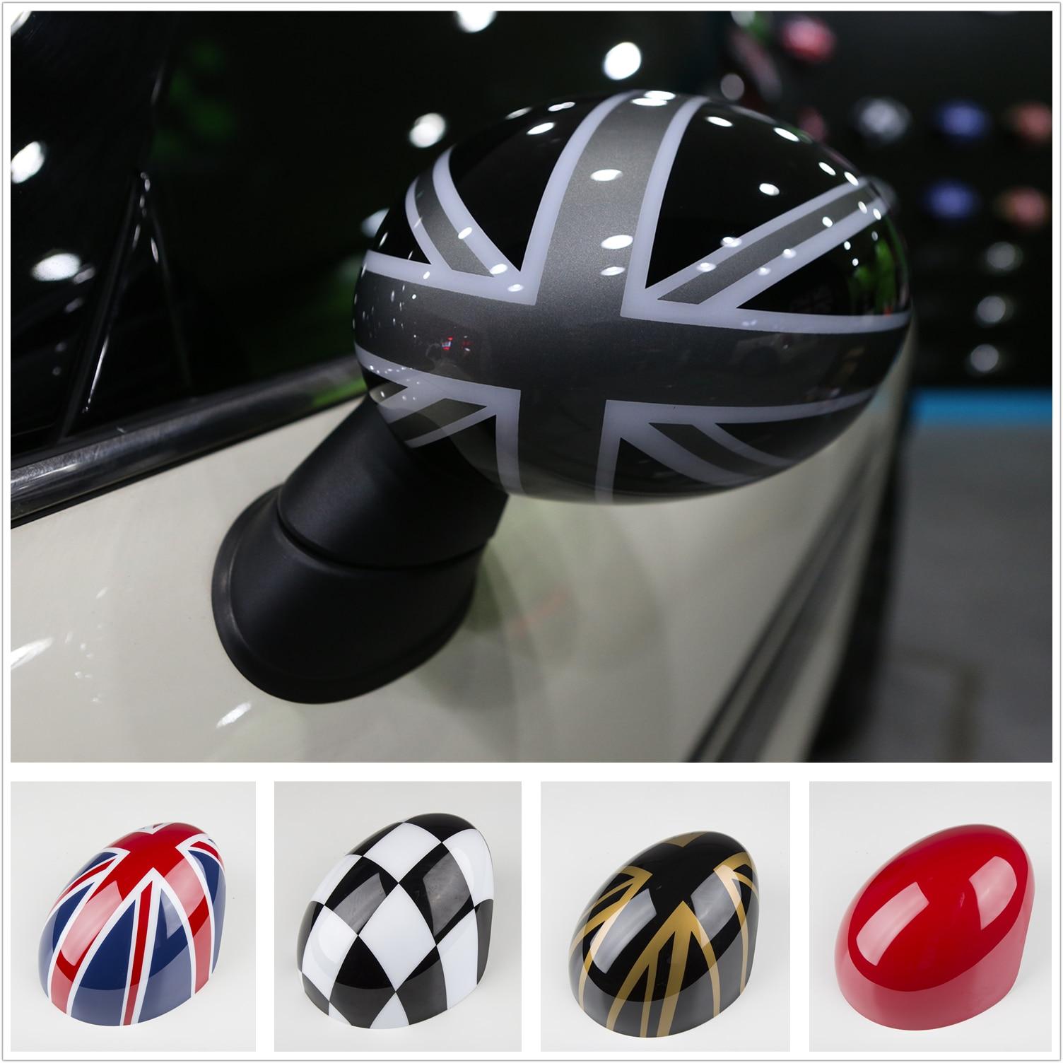 2pcs Side Wing Mirror Cover Cap Trim For Mini Cooper R Series R50 R53 R52 2000-2008 Fashion Decoration Car Decal Accessories
