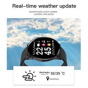 Image 4 - W8 ساعة ذكية مقاوم للماء الرجال النساء ضغط الدم مراقب معدل ضربات القلب توقعات الطقس اللياقة البدنية الرياضة Smartwatch ل أندرويد IOS