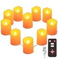 Светодиодный светильник-свеча без пламени теплый белый яркий чайный светильник s USB/на батарейках с 8 клавишами дистанционного управления н...