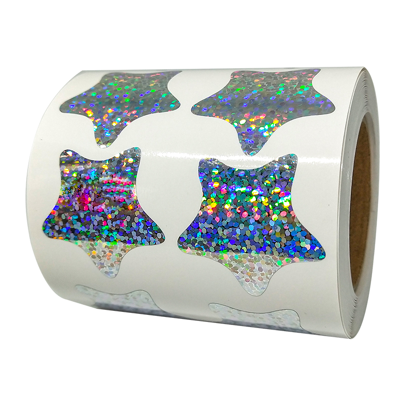 Glitter Foil Metal Star Sticker 500 Day Flower Star Sticker Roll Label - Self-adhesive Clip Art Party Offer Teacher Supplies
