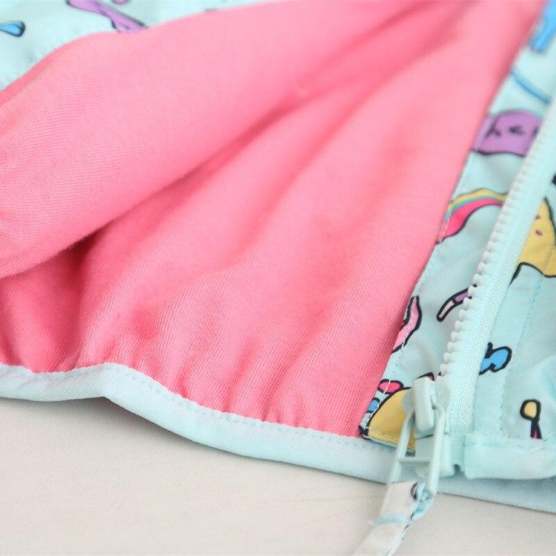 YorkZaler Kids Rain Jacket Baby Girl Boy Clothing Spring Children Long Sleeve Print Unicorn Dinosaur Hooded Coat Outerwear Tops 6