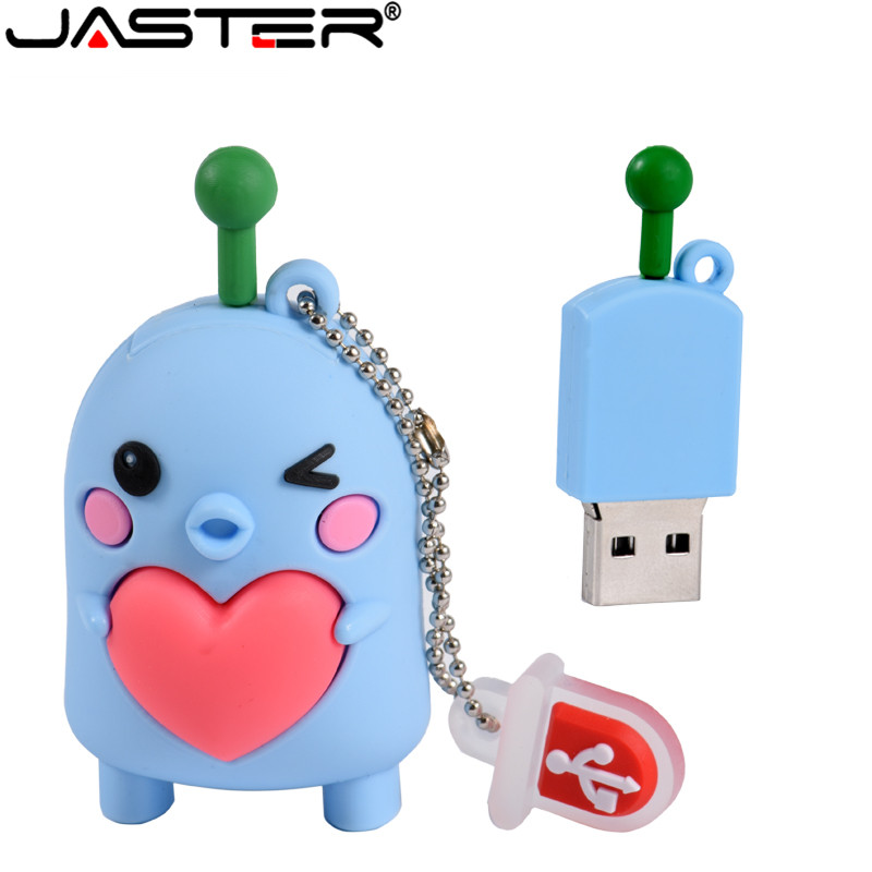 JASTER Lovely Cartoon USB Flash Drive Pen Drive 4GB 16GB Flash Drives 32GB 64GB Pendrive USB 2.0 Flash Memory Stick Free Ship
