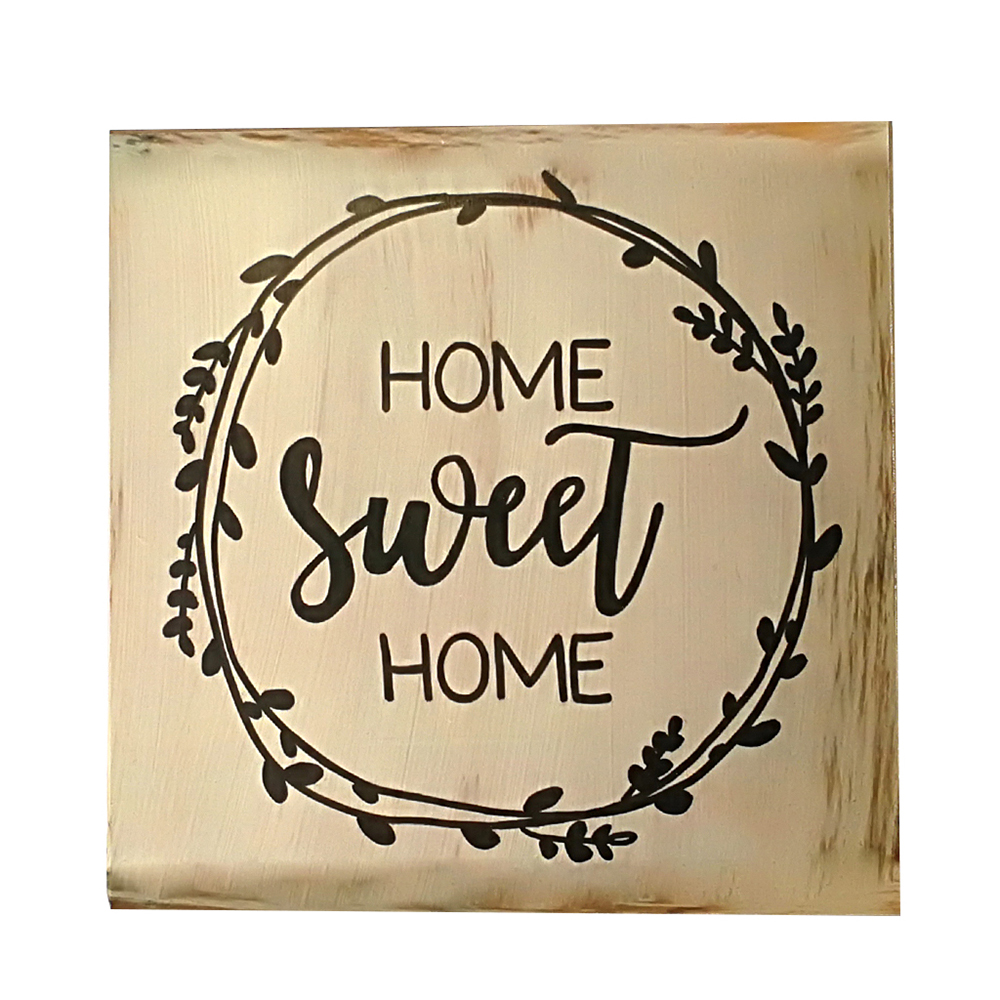 1 Pcs Wooden Decorative Rustic Wood Signs Vintage Home Sweet Sign Plaque Housewarming Gift Farmhouse Style House Ornament image