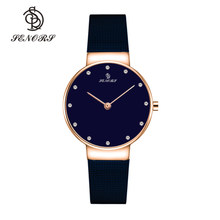 Senors Japan Quartz Hoge Kwaliteit Vrouwen Stainless Steel Mesh Band Rose Goud Waterdicht Dames Horloge Dropshipping(China)