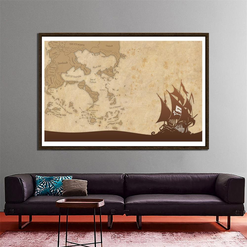 150x100cm DIY Decor Map Home Office Wall Decor Painting Photography Backdrops Photo Studio Props