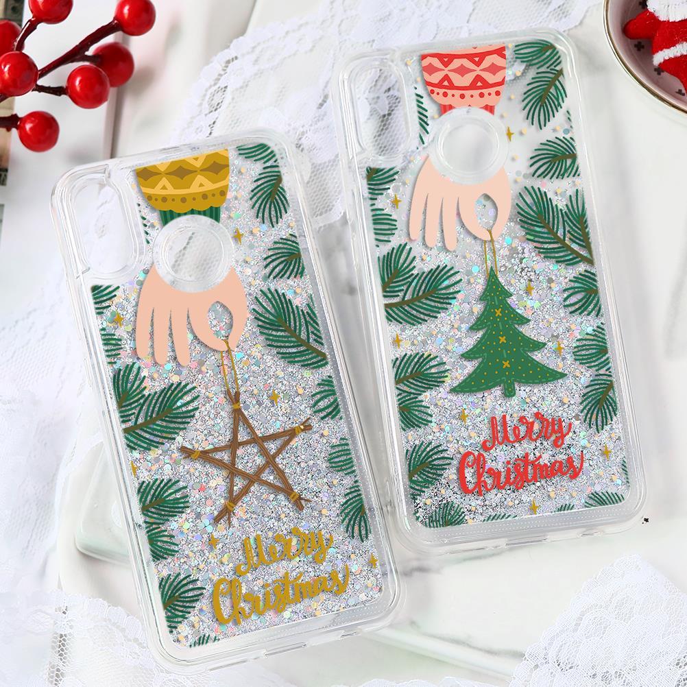 Frohe Weihnachten Nette Mädchen Dame Geschenke Treibsand Weichen Fall Für Huawei P30 P20 Lite Pro P10 Plus P Smart Mate 20 10 Pro Lite Abdeckung