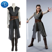 MANLUYUNXIAO Rey Cosplay Halloween Costume For Kids Adult Women Movie Star Wars 8 The Last Jedi Masquerade Outfit Custom Made
