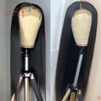 Arabella brazylijski zamknięcie peruka proste włosy 180 gęstość wstępnie oskubane z dzieckiem włosy 4 #215 4 zamknięcie peruka 100 Remy ludzki włos peruki tanie i dobre opinie Długi Koronki przodu peruk Remy włosy Pół maszyny wykonane i pół ręcznie wiązanej Swiss koronki 1 sztuka tylko Średni brąz