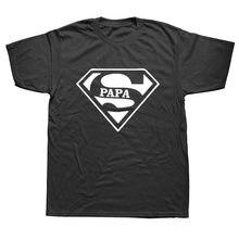 Camiseta dos homens de algodão de verão de manga curta o pescoço t camisa topos camiseta pai do pai