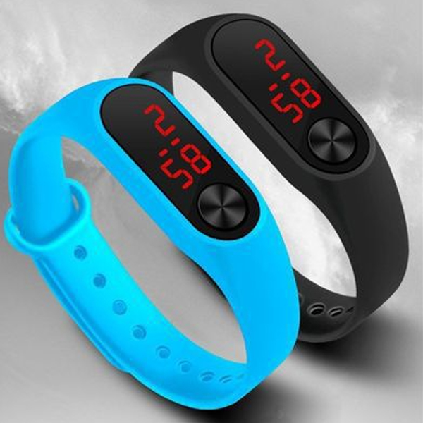 Silicone LED Display Waterproof Watch Digital Wristwatch Kids Students Gifts LL@17