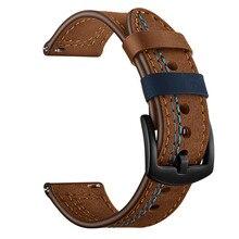Для samsung Galaxy Watch 46 мм 42 мм Active 2 44 мм 40 мм ремешок 22 мм 20 мм ремешок из натуральной кожи для gear S3 Classic/браслет