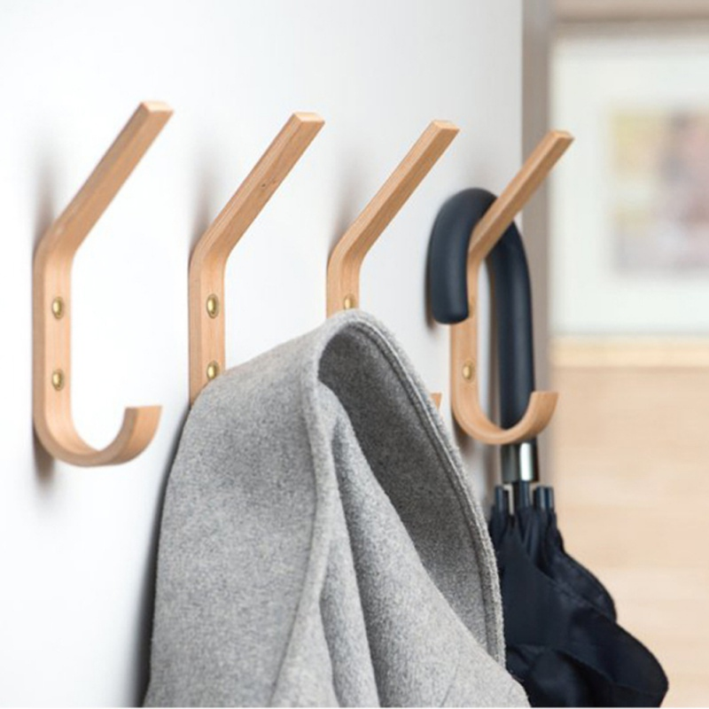 Wall Art Decor Clothes Hanger Coat Rack Garden Hook Creative Wood Hook Decorative Key Holder Wall Hanger Japanese Style