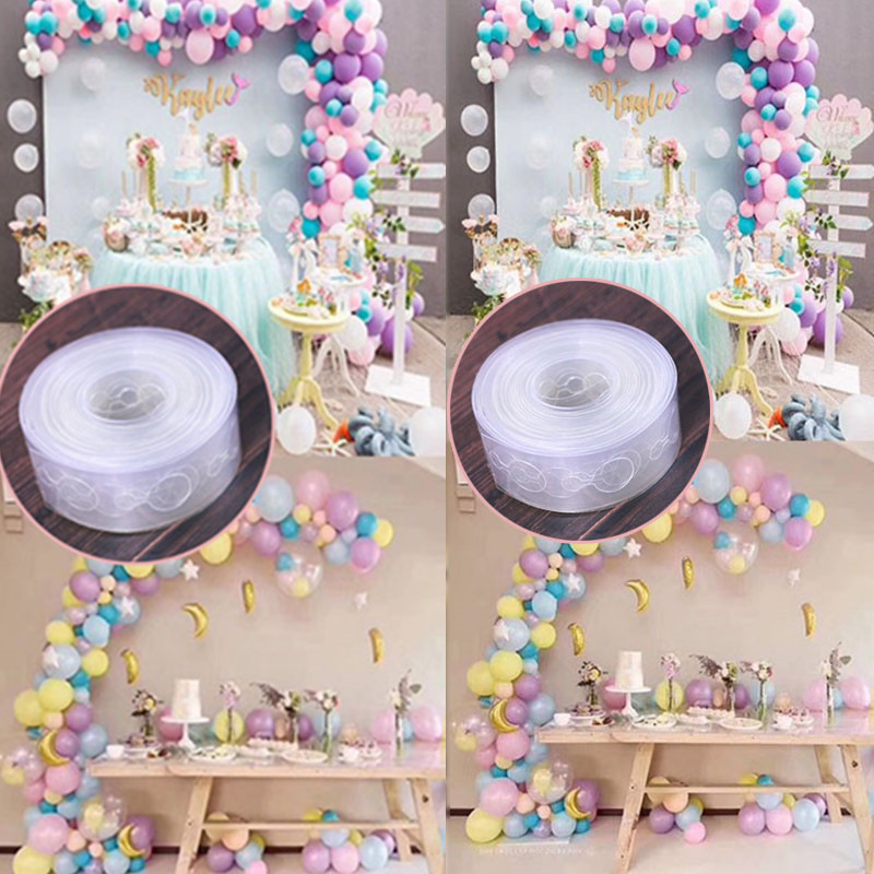 1PC 5m Festival Supplies Transparent Rubber Chain Helium Balloon Decoration Wedding PVC Arch Decoration Balloon Chain Party