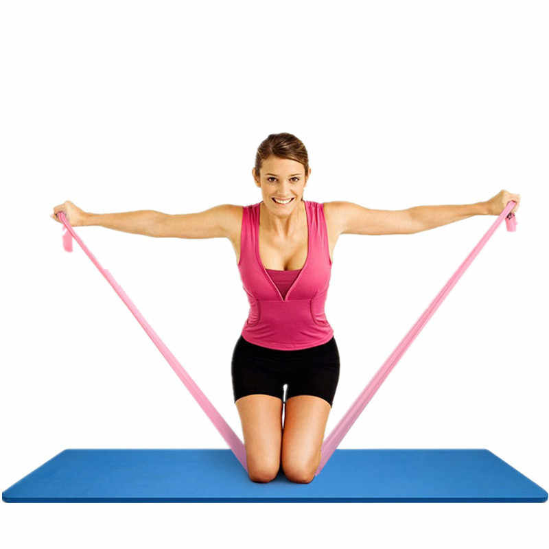 Yoga Spannung Blatt 2 M Elastizität Fitness frauen Spannung Band Männer Power Training Sport Stretch Widerstand Zug Lanyard