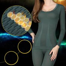 2020 New Woman Lace Thermal Underwear Winter Warm Seamless E