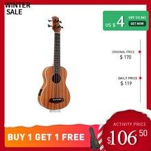 Купить с кэшбэком Guitarra Electrica Wooden Guitar Musical Instruments 30-inch Full Sapele Vintage Retro Closed Knob Ukulele Only Russia UB-113