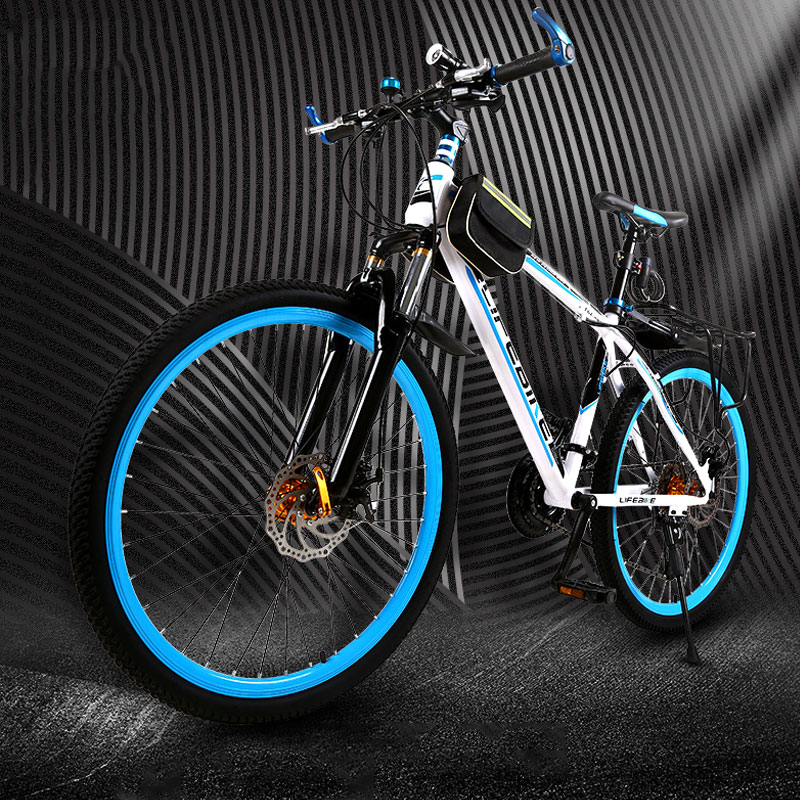 Mountain Bike 26 Inch 27 Speed Shift Double Disc Brake Shock Absorber Men And Women Bicycle Off Road