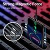 GETIHU 2m câble magnétique rapide 3A pour iPhone 11 Samsung chargeur Charge rapide 3.0 Micro USB type C aimant téléphone Charge données cordon 2