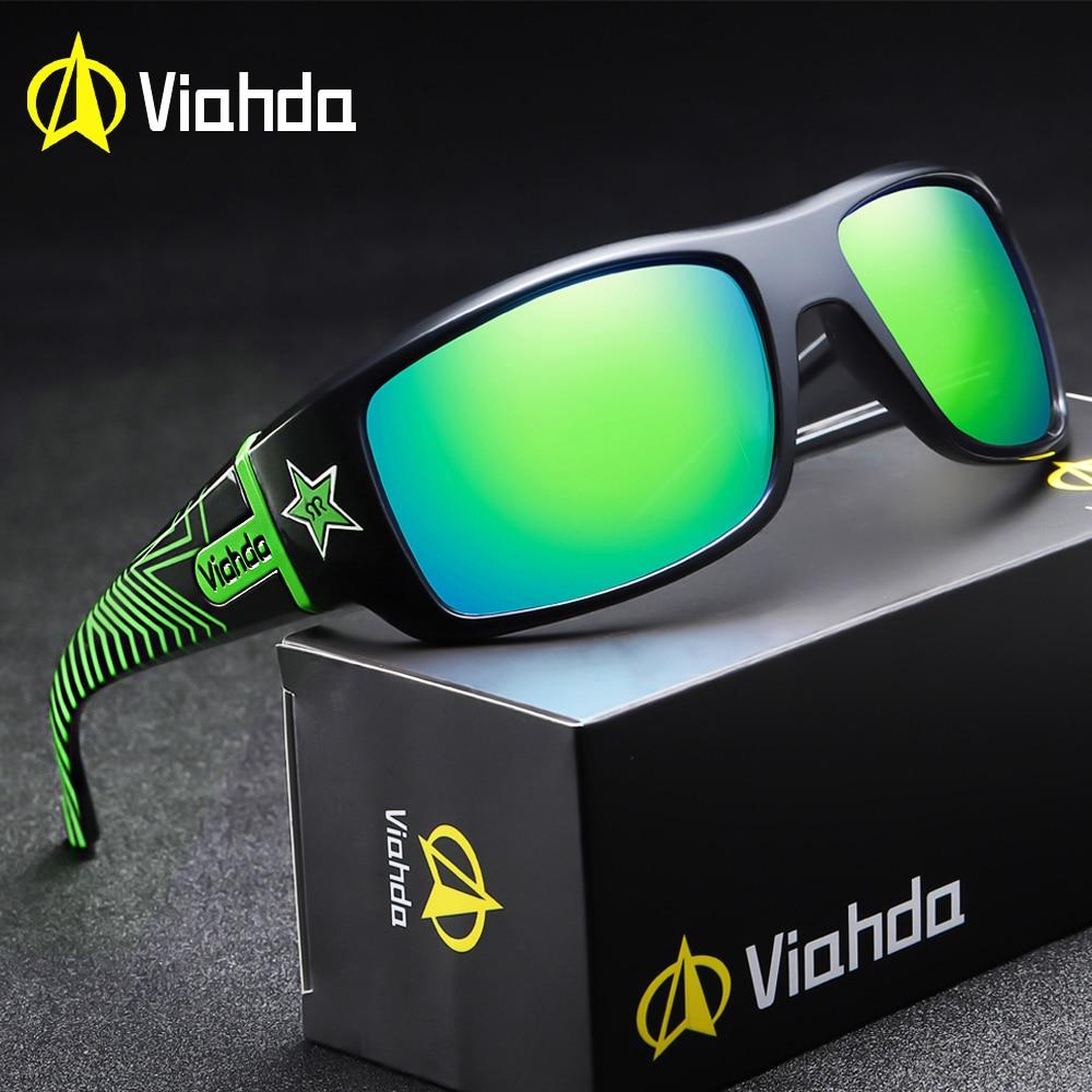 VIAHDA DESIGN Men Classic Polarized Sunglasses Male Sport Fishing Shades Eyewear UV400 Protection-in Men's Sunglasses from Apparel Accessories