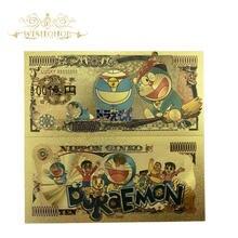 1 pçs 2020 nova japão anime nota em 24k ouro chapeado dinheiro para a coleção