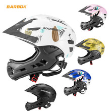 ROCKBROS Motorcycle Helmets for Kids Outdoor Sports Safety Caps Snowboard Head Protection Children Bike Riding Motorbike Helmet