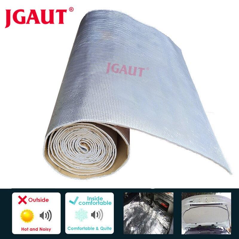 JGAUT 50 см * 200 см рулон автомобильной алюминиевой фольги шумоизоляция лист двери крыши капота двигателя грузовика теплоизоляция