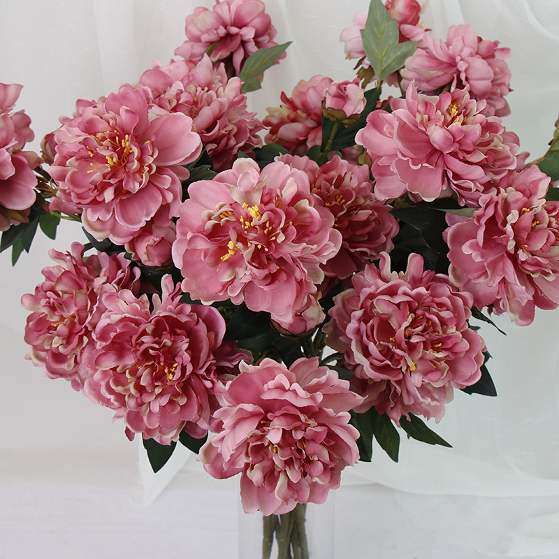 Artificial Flowers Peony Home Decoration Fake Flowers Silk Free Combination Eternal Flowers Multi Style Garden Ornaments Gift in Artificial Dried Flowers from Home Garden