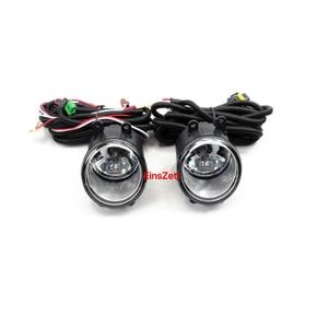 1 комплект, автомобильный противотуманный светильник в сборе для Toyota ALLION Modellista 2006-2008, галогеновая лампа переднего бампера с Покрытие хромом