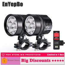EnYepBo LED Motorcycle Headlight White Super bright G4F Fog bulb 8000LM 50W Electric car SUV Auto working lamp 12V